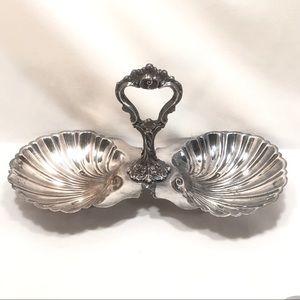 Other - Silver Shell Bon Bon Dish